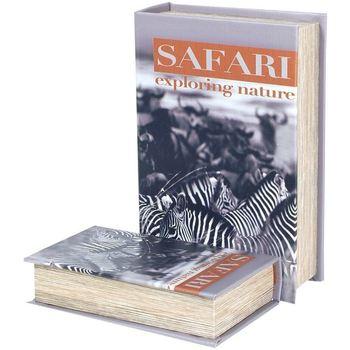 Maison & Déco Malles, coffres de rangements Signes Grimalt Lot De 2 Boîtiers Papier Zebra Safari De 2U Multicolor