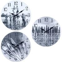 Maison & Déco Horloges Signes Grimalt Horloge Murale Surf 3 Ensemble Différent De 3U Gris