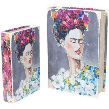 Maison & Déco Malles, coffres de rangements Signes Grimalt Set 2 Box Set Frida Livre 2U Multicolor