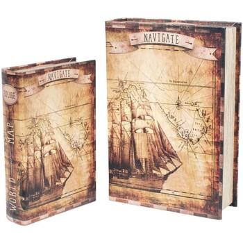 Maison & Déco Malles, coffres de rangements Signes Grimalt Ensemble De 2 Boîtes Paper Boat Ensemble De 2U Marrón