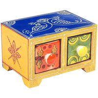 Maison & Déco Malles, coffres de rangements Signes Grimalt Especiero 2 Tiroirs Multicolor