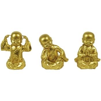 Maison & Déco Statuettes et figurines Signes Grimalt Golden Buddha Assortments Ensemble 3U Dorado