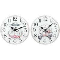 Maison & Déco Horloges Signes Grimalt Horloge Murale 2 Ensemble Différent De 2U Blanco