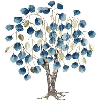 Maison & Déco Tableaux, toiles Signes Grimalt Arbre Avec Des Feuilles Mortes Azul