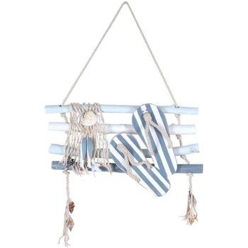Maison & Déco Tableaux, toiles Signes Grimalt Mur Ornement Écouvillons Azul