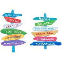 Maison & Déco Tableaux, toiles Signes Grimalt Enseignes Magnétiques Beach 2 Ensemble Différent De 2U Multicolor