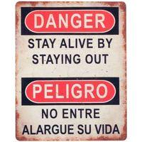 Maison & Déco Tableaux, toiles Signes Grimalt Plaque Murale Danger / Danger Multicolor