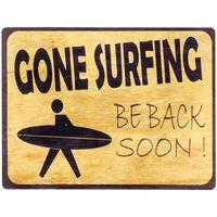 Maison & Déco Tableaux, toiles Signes Grimalt Plaque Murale Autant En Emporte Surfin Amarillo