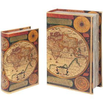Maison & Déco Malles, coffres de rangements Signes Grimalt Ensemble De World Book 2 Boîtes Ensemble De 2U Multicolor
