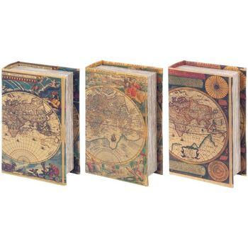 Maison & Déco Malles, coffres de rangements Signes Grimalt Différentes Boîtes World Book 3 Jeu De 3U Multicolor