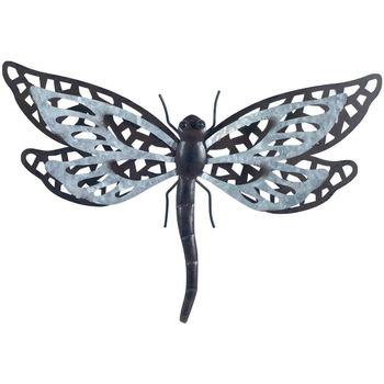 Maison & Déco Statuettes et figurines Signes Grimalt Dragonfly Avec Relief Métal Gris
