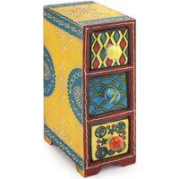 Maison & Déco Malles, coffres de rangements Signes Grimalt Especiero 3 Tiroirs Multicolor