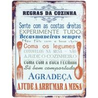 Maison & Déco Tableaux, toiles Signes Grimalt Plaques Murales Portugue Naranja