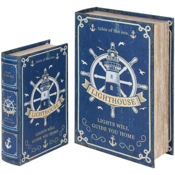 Maison & Déco Malles, coffres de rangements Signes Grimalt Ensemble De 2 Boîtes Livre Rudder Ensemble De 2U Azul