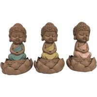 Maison & Déco Statuettes et figurines Signes Grimalt Bouddha Linda Ensemble De 3 Unités Multicolor