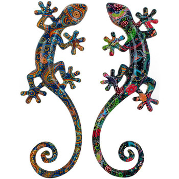 Maison & Déco Tableaux, toiles Signes Grimalt Ensemble Lizard De 2 Unités Multicolor