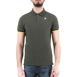 Vêtements Homme Polos manches courtes K-Way Vincent Contrast Stretch Vert Vert
