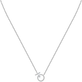 Montres & Bijoux Femme Colliers / Sautoirs Arbelo Collier  en Argent 925/1000 et Oxyde Blanc