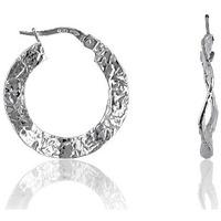 Montres & Bijoux Femme Boucles d'oreilles Cleor Créoles  en Blanc Blanc