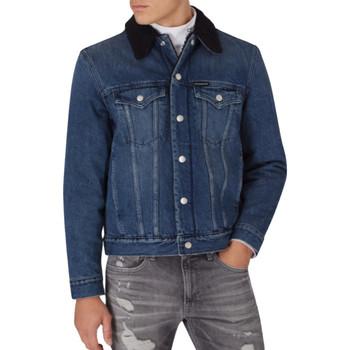 Vêtements Homme Vestes en jean Calvin Klein Jeans Foundation sherpa jacket Bleu