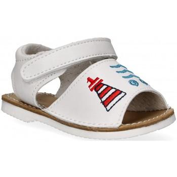 Chaussures Fille Sandales et Nu-pieds Bubble 54800 blanc