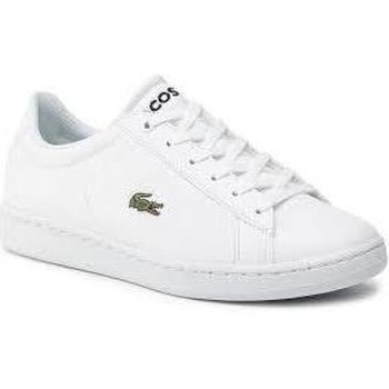 Chaussures Fille Baskets basses Lacoste CARNABY BLANC BLANC