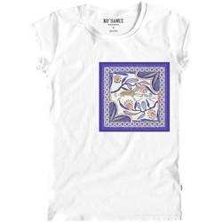 Vêtements Femme T-shirts manches courtes Ko Samui Tailors Bandana T-Shirt Bianco Blanc
