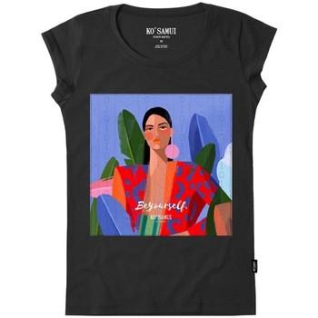Vêtements Femme T-shirts & Polos Ko Samui Tailors STITCH T-SHIRT Nero Noir