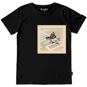 Vêtements Homme T-shirts manches courtes Ko Samui Tailors Bandana T-Shirt Nero Noir