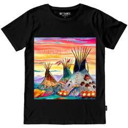 Vêtements Homme T-shirts & Polos Ko Samui Tailors STITCH T-SHIRT Nero Noir