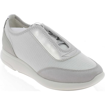 Chaussures Fille Baskets basses Geox D OPHIRA BIANCHE Gris