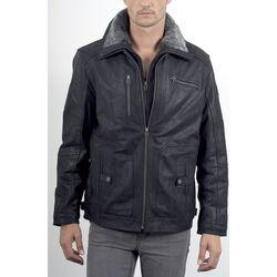 Vêtements Vestes en cuir / synthétiques Arturo 823 Noir Noir