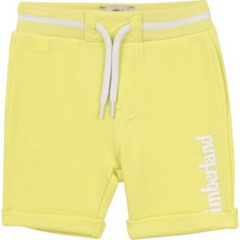Vêtements Garçon Shorts / Bermudas Timberland Bermuda bébé taille élastique Jaune
