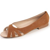 Chaussures Femme Ballerines / babies Isotoner Ballerines bout ouvert Camel