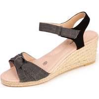Chaussures Femme Espadrilles Isotoner Espadrilles nœud Noir