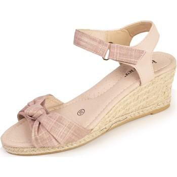 Chaussures Femme Espadrilles Isotoner Espadrilles nœud Rose