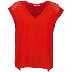 Vêtements Femme T-shirts manches courtes Deeluxe T-Shirt VAL Red Pepper