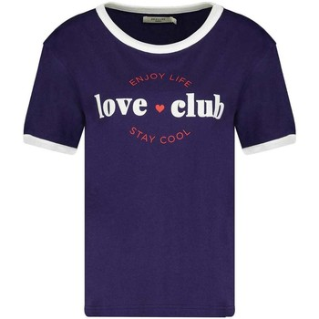 Vêtements Fille T-shirts manches courtes Deeluxe T-Shirt LOVECLUB Navy