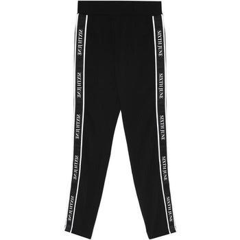 Vêtements Femme Pantalons de survêtement Sixth June Legging  bande imprimée noir/blanc