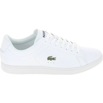 Chaussures Homme Baskets basses Lacoste Carnaby Blanc Croco Vert Blanc