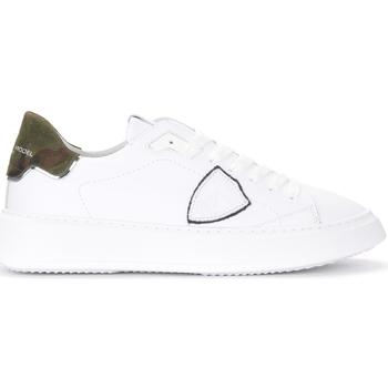 Chaussures Homme Baskets basses Philippe Model Baskets Philippe Modèle Temple en cuir blanc et imprimé Blanc