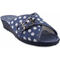 Chaussures Femme Chaussons Garzon maison Mme  753.140 bleu Bleu