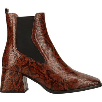 Chaussures Femme Boots Wonders Bottines Cognac