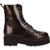 Chaussures Femme Boots Buffalo Bottines Patent Bordeaux