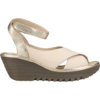 Chaussures Femme Polo Ralph Lauren Fly London Sandales Weiß/Gold