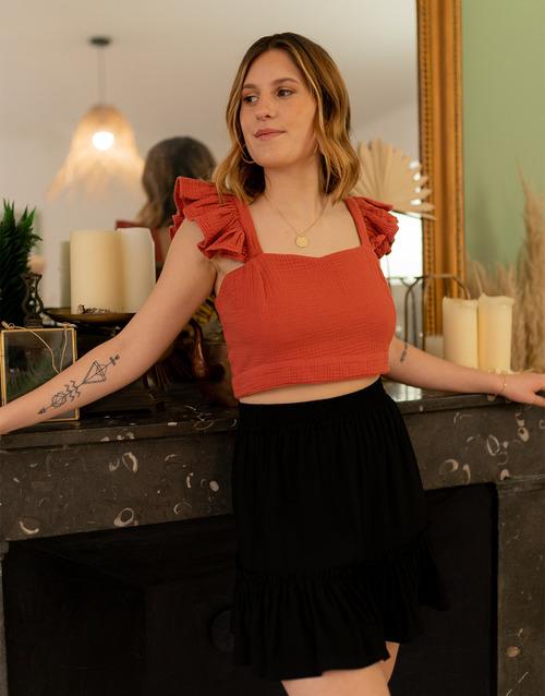 Vêtements Femme Tops / Blouses Céleste CAPUCINE Terracotta