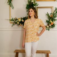 Vêtements Femme Tops / Blouses Céleste MESANGE Jaune / Blanc