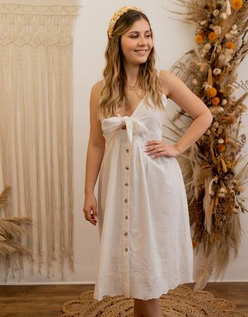 Vêtements Femme Robes longues Céleste CAMOMILLE Blanc