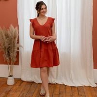 Vêtements Femme Robes courtes Céleste DAHLIA Terracotta