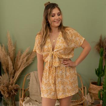 Vêtements Femme Combinaisons / Salopettes Céleste LYS Jaune / Blanc